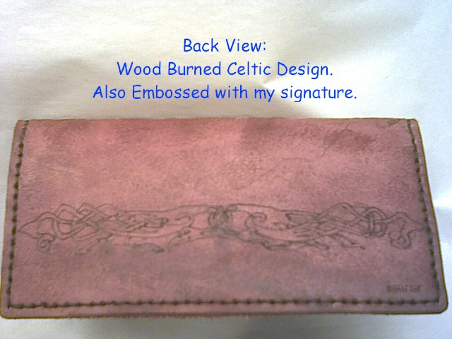 Hand Made Celtic Check Books and Billfolds by www.wichcrafter.com