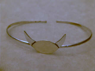 Horned God Bracelet With Brass