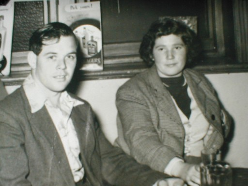 Frankie & Dorothy Owens, In the Pub Brymbo.