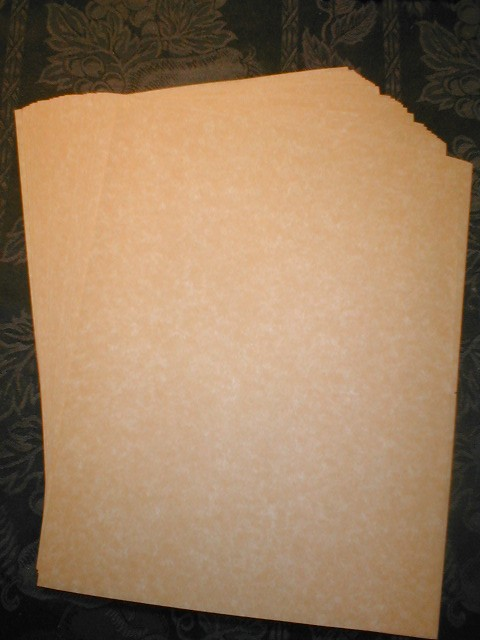 24lb Antiqued  Gold Parchment.